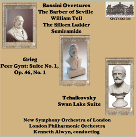 Rossini Overtures: The Barber of Seville/William Tell/The Silken Ladder/Semiramide - New Symphony Orchestra of London/Kenneth Alwyn; Peer Gynt Suite No. 1; Tchaikovsky: Swan Lake Suite - London Philharmonic Orchestra/Kenneth Alwyn | Music | Classical