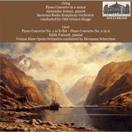 Grieg: Concerto in a minor - Alexander Jenner, pianist - Bavarian Radio Symphony Orchestra/Odd Grüner-Hegge; Liszt: Concerto No. 1; Concerto No. 2  - Edith Farnadi, pianist - Vienna State Opera Orchestra/Hermann Scherchen | Music | Classical