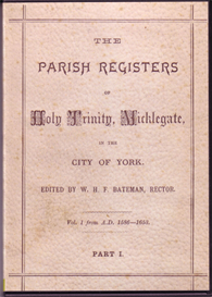 The Parish Registers of Holy Trinity, Micklegate, York | eBooks | Reference