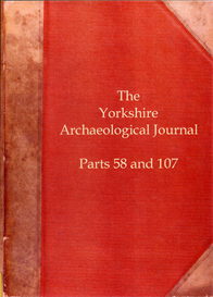 The Yorkshire Archaeological Journal. Part 58 (published in 1898) Part 107 (published in 1923) | eBooks | Reference