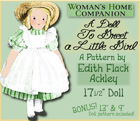 Edith Flack ACKLEY Vintage A Doll to Greet a Girl 17.5 inch CLOTH Doll 1940 vintage e-pattern | Crafting | Sewing | Dolls and Toys