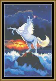 Unicorn Raging Sea - Cross Stitch Pattern | Crafting | Cross-Stitch | Other