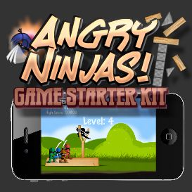 Angry Ninjas Starter Kit for iOS App Development - Developer License | Software | Software Templates