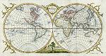 The World in Hemispheres, Thomas Kitchin, 1777 | Other Files | Stock Art