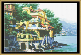 Portofino Villa - Cross Stitch Pattern | Crafting | Cross-Stitch | Wall Hangings