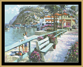 Catalina Promenade - Cross Stitch Pattern | Crafting | Cross-Stitch | Wall Hangings
