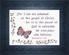 Not Ashamed of the Gospel - Romans 1:16 | Crafting | Cross-Stitch | Religious