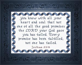 Every Promise Fulfilled - Joshua 23:14 | Crafting | Cross-Stitch | Religious
