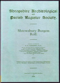 Shrewsbury Burgess Roll | eBooks | Reference