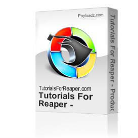 tutorials for reaper - producing midi in reaper