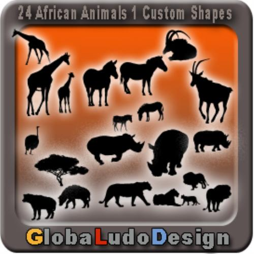 First Additional product image for - 24 African Animal Shapes1