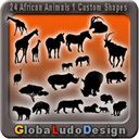 24 African Animal Shapes1 | Other Files | Graphics