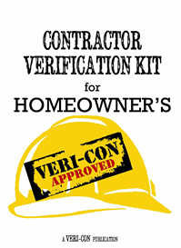 Contractor Verification Kit for Homeowner's