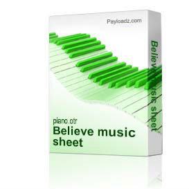 believe music sheet