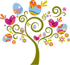 Easter Tree machine embroidery file | Crafting | Sewing | Holiday and Seasonal