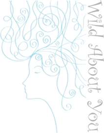 wild hair blue - machine embroidery file