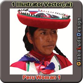 peru woman vector1