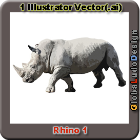 Rhino vector1 | Other Files | Clip Art