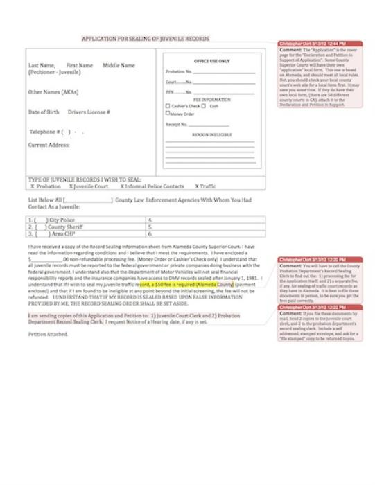 First Additional product image for - Application & Petition to Seal Juvenile Records