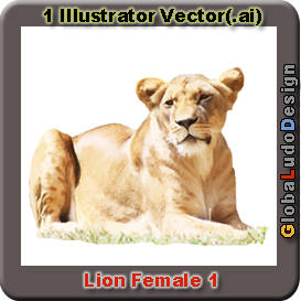 Lion female Vector1 | Other Files | Clip Art