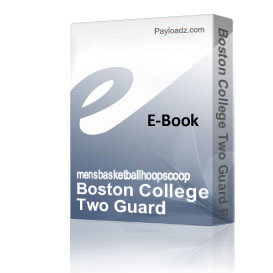 boston college two guard front offense playbook