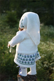 Knitting pattern - 0027D KIRSTEN - Dress-pants-headscarf-socks and sweater