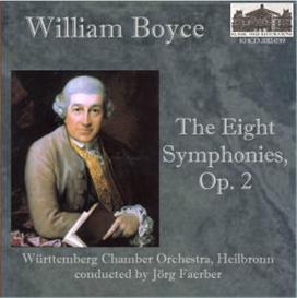 Boyce: The Eight Symphonies, Op. 2 - Württemberg Chamber Orchestra, Heilbronn/Jörg Faerber | Music | Classical