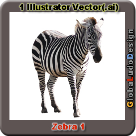 Zebra 1 Vector | Other Files | Clip Art