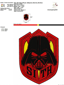 STAR WARS - EMBROIDERY DESIGN