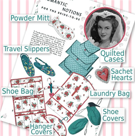 Romantic Notions - Travel Accessories 1940's | Crafting | Sewing | Gifts
