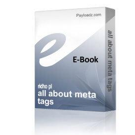 all about meta tags