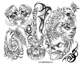 Douglas Heuton Tattoo Flash | Other Files | Patterns and Templates