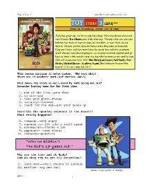TOY STORY 3, Whole-Movie English (ESL) Lesson | eBooks | Education