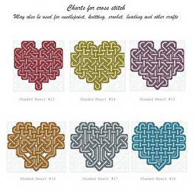 shaded celtic heart collection 1