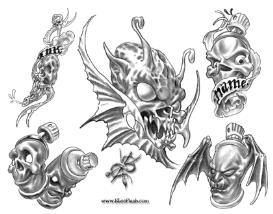 Douglas Heuton Tattoo Flash Art | Other Files | Patterns and Templates
