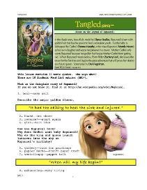 TANGLED,  Whole-Movie English (ESL) Lesson | eBooks | Education
