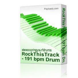 RockThisTrack - 191 bpm Drum Loops | Music | Backing tracks