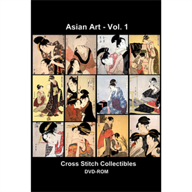 Asian Art Volume 1 CD/DVD - cross stitch pattern by Cross Stitch Collectibles | Crafting | Cross-Stitch | Wall Hangings
