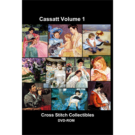 Cassatt Vol 1 CD/DVD - cross stitch pattern by Cross Stitch Collectibles | Crafting | Cross-Stitch | Wall Hangings