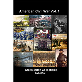 American Civil War Vol 1 CD/DVD - cross stitch pattern by Cross Stitch Collectibles | Crafting | Cross-Stitch | Wall Hangings