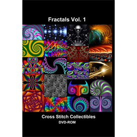 Fractal Vol 1 CD/DVD - cross stitch pattern by Cross Stitch Collectibles | Crafting | Cross-Stitch | Other