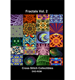 Fractals Vol 2 CD/DVD - cross stitch pattern by Cross Stitch Collectibles | Crafting | Cross-Stitch | Other