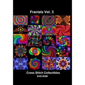 fractals vol 3 cd/dvd - cross stitch pattern by cross stitch collectibles