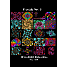 Fractals Vol 5 CD/DVD - cross stitch pattern by Cross Stitch Collectibles | Crafting | Cross-Stitch | Other