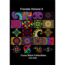 fractals vol 6 cd/dvd - cross stitch pattern by cross stitch collectibles