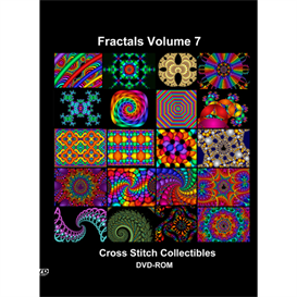 Fractals Vol 7 CD/DVD - cross stitch patterns by Cross Stitch Collectibles | Crafting | Cross-Stitch | Other