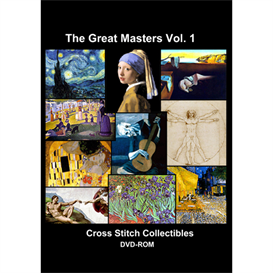 The Great Masters Vol 1 CD/DVD - cross stitch pattern by Cross Stitch Collectibles | Crafting | Cross-Stitch | Other