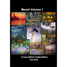 Monet Vol 1 CD/DVD - cross stitch pattern by Cross Stitch Collectibles | Crafting | Cross-Stitch | Other