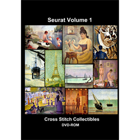 Seurat Vol 1 CD/DVD - cross stitch pattern by Cross Stitch Collectibles   Crafting   Cross-Stitch   Other