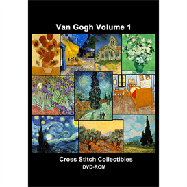 Van Gogh Vol 1 CD/DVD - cross stitch pattern by Cross Stitch Collectibles | Crafting | Cross-Stitch | Other